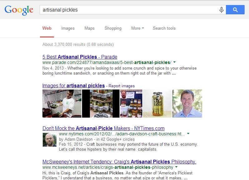 artisanal pickles