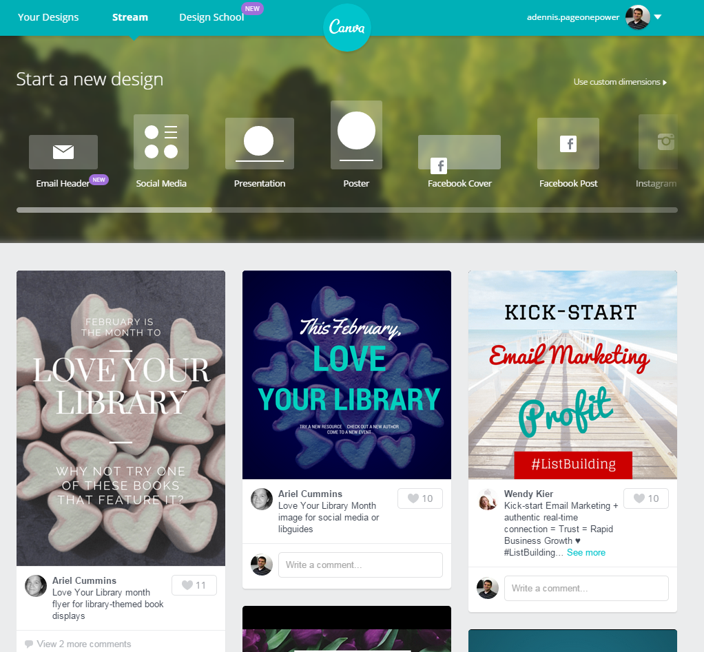 Canva Stream Page