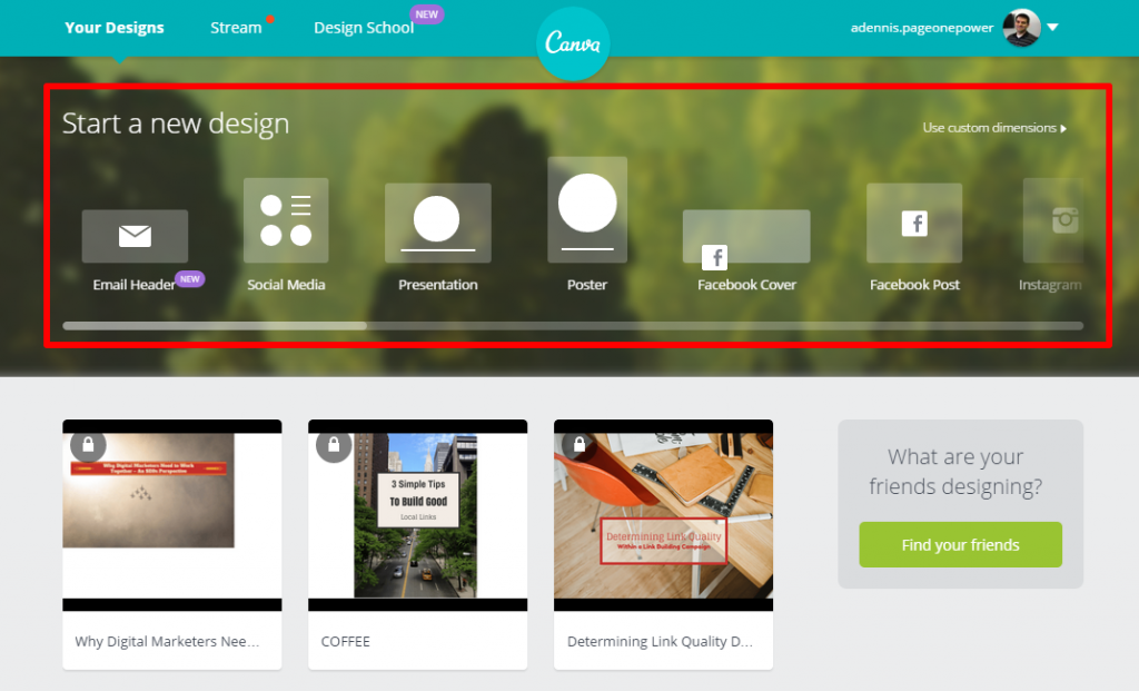 Canva Home Page Design Templates
