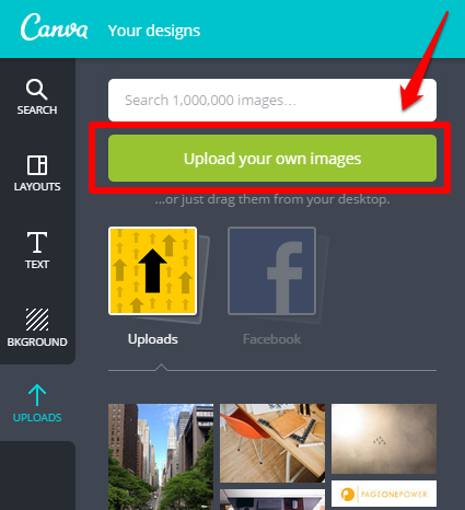 Canva Upload Button
