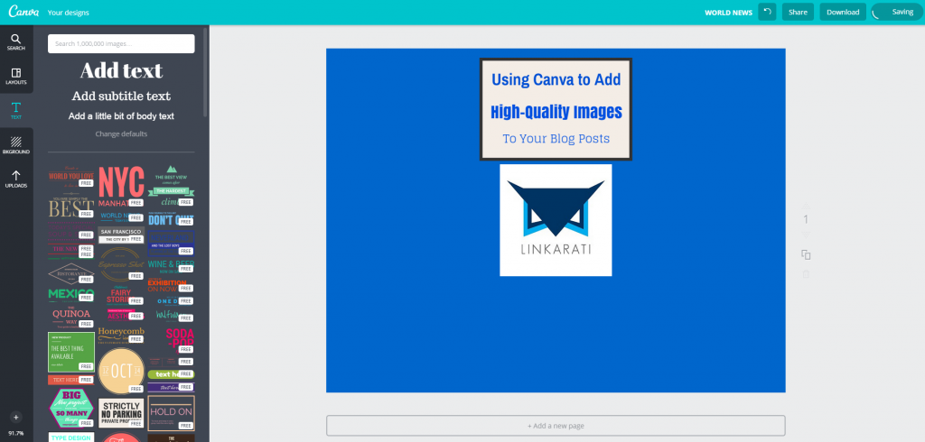 Canva Design Page Image complete