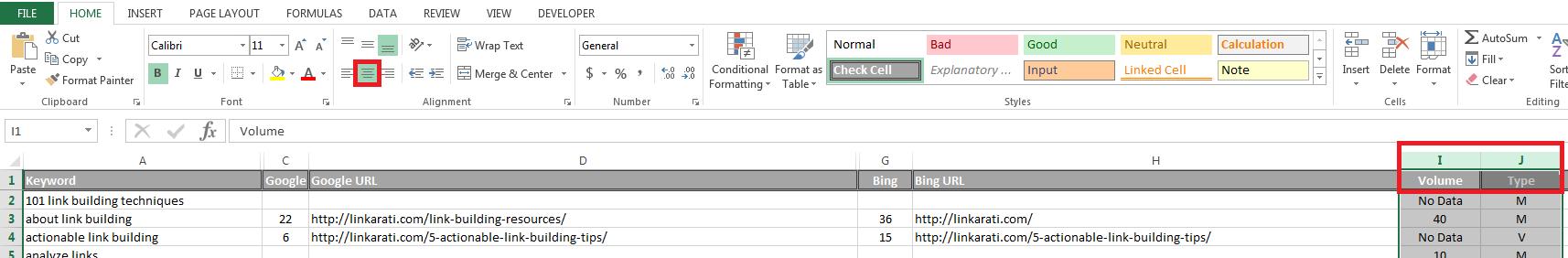 NSC ALA data points centered