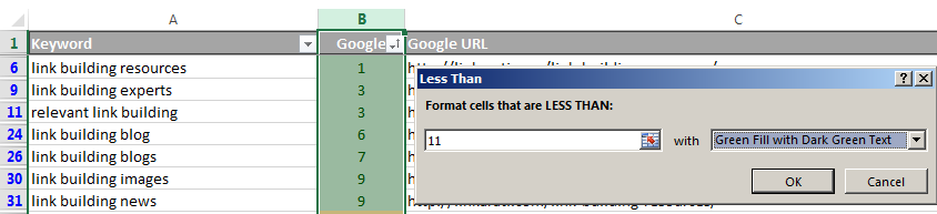 NSC ALA conditional formatting page 1