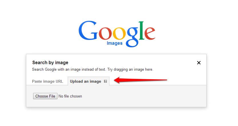 Google Images Capture UploadArrow