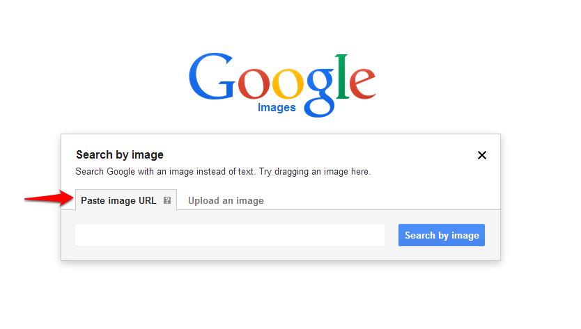 Google Images Capture Paste URLArrow