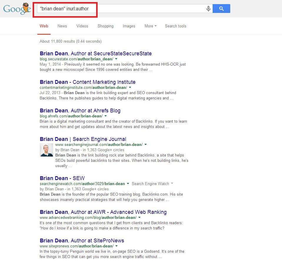 brian dean inurl author