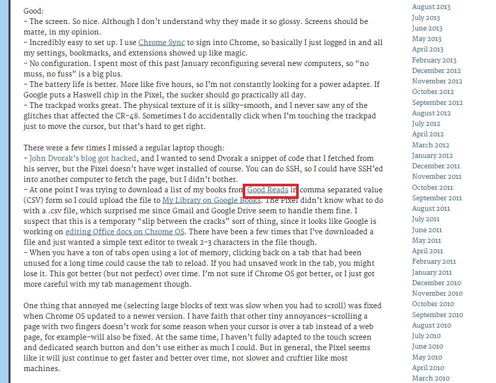 Matt Cutts blog page