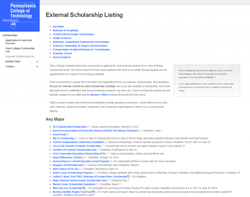External Scholarships LP