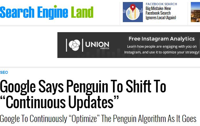 SEL google penguin shift