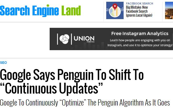 SEL google penguin shift