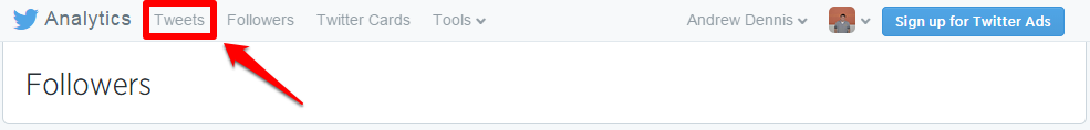 Twitter Analytics Tabs Tweets with Box