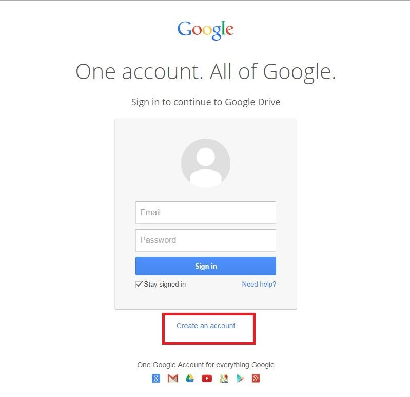 Creating a Google Account