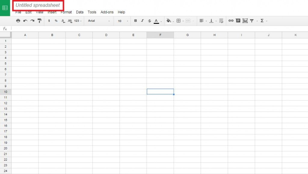 Untitled Spreadsheet