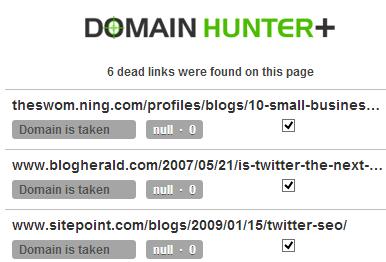 Broken Links Example