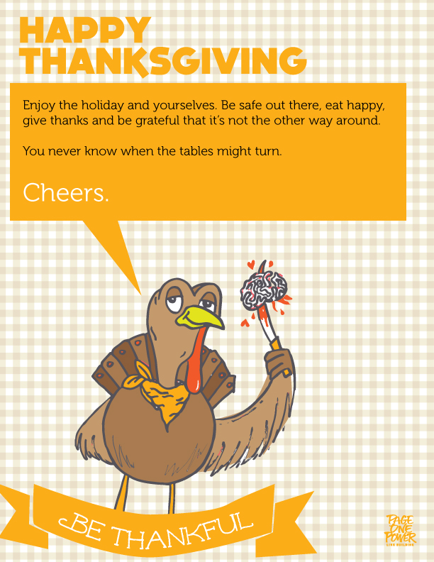 Happy Thanksgiving from Page One Power!