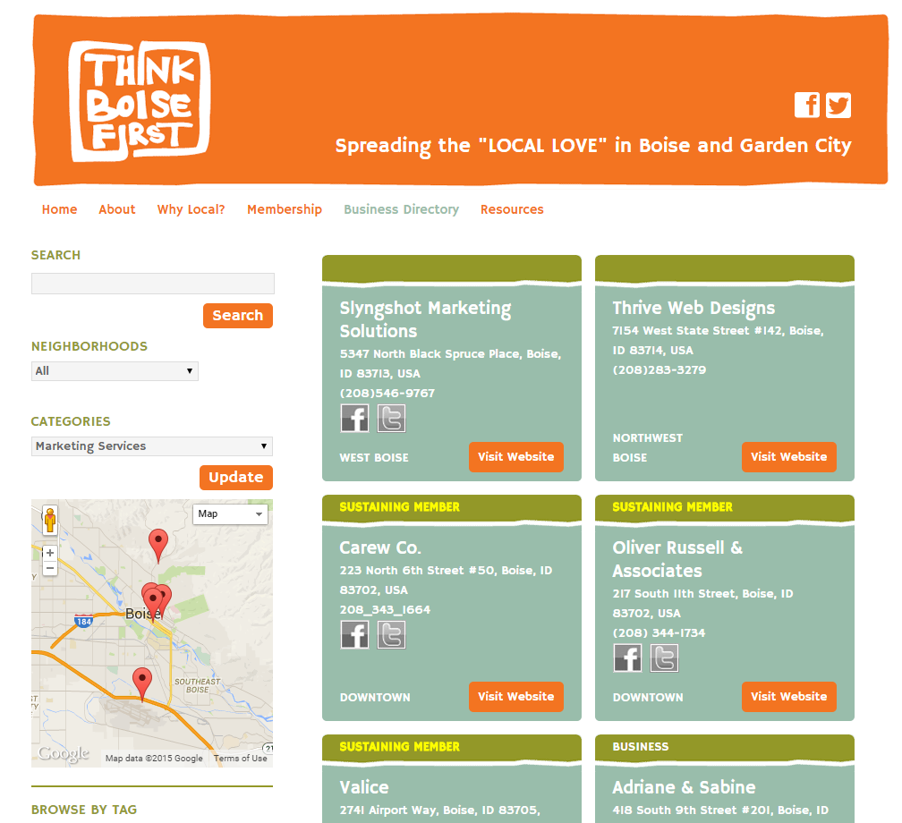 Advertising Example ThinkBoiseFirst Marketing Services