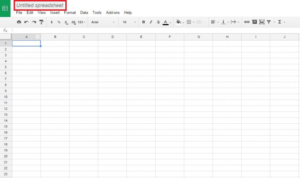 Renaming the Google Doc