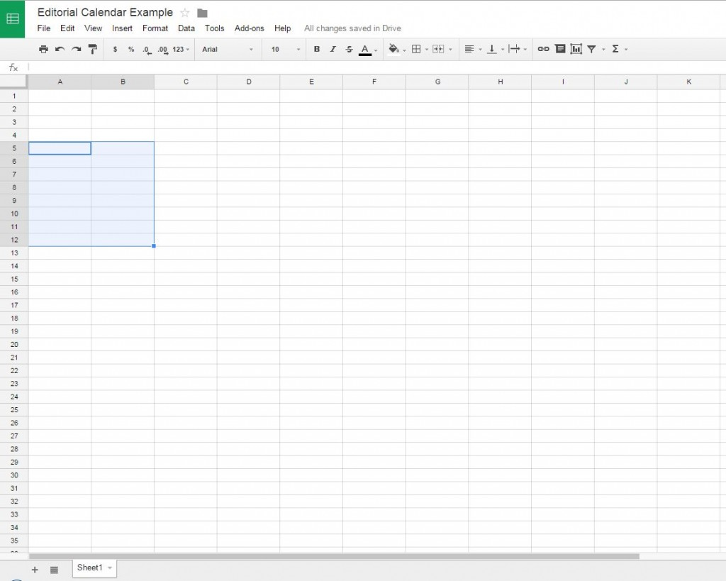 Selecting multiple cells in a Google Doc