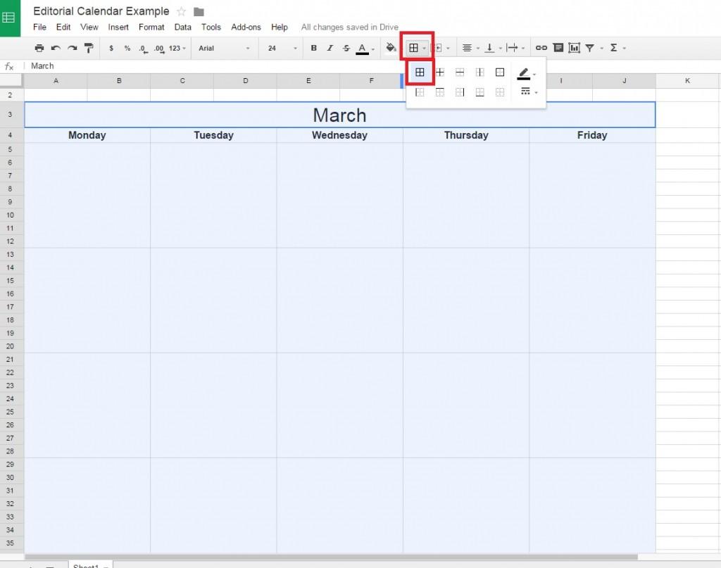Adding borders to a Google Doc