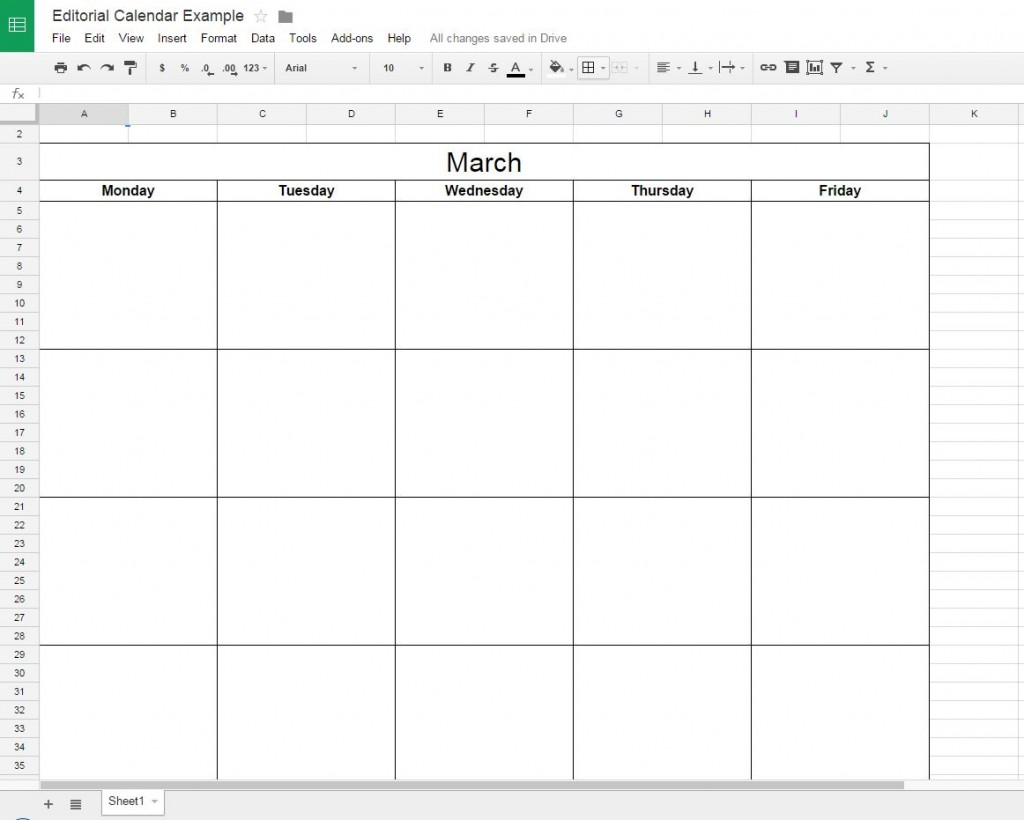 Google Doc with Borders