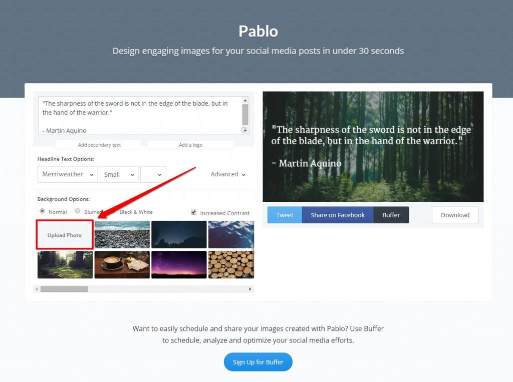 Pablo Background Image Upload