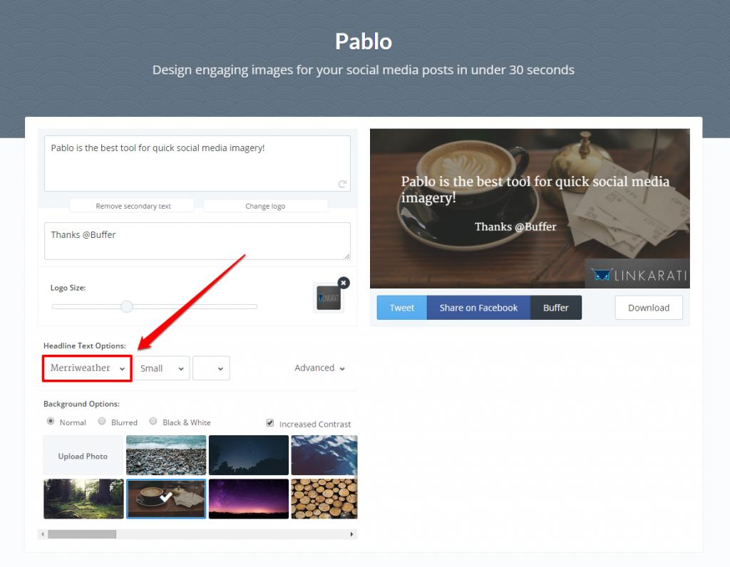 Pablo Font Change