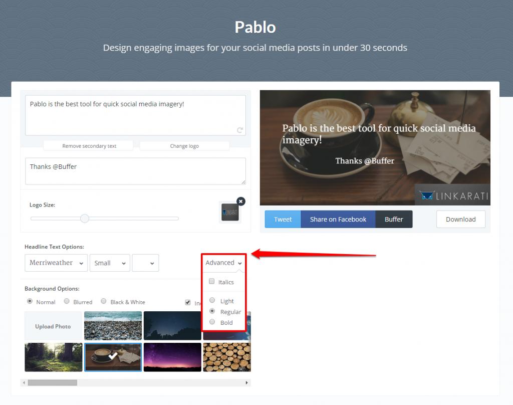 Pablo Advanced Button