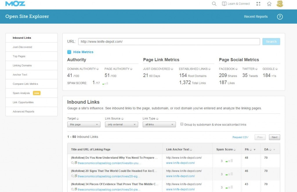 Moz OSE overview