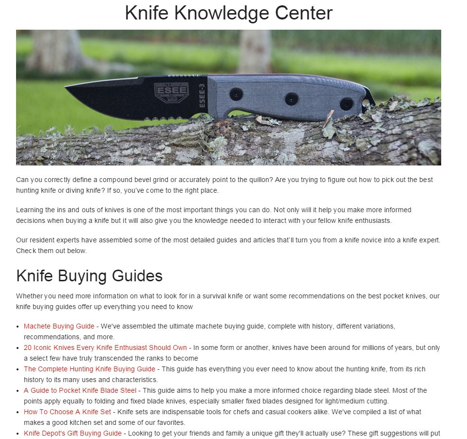 Knife Knowledge Center