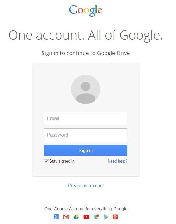 Google Account login