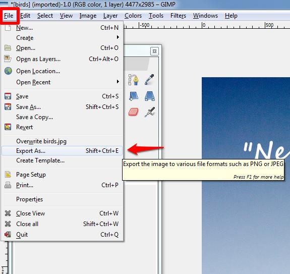 Adjust font export screenshot