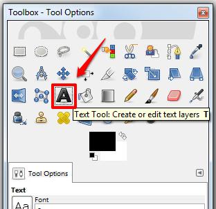 Tutorial screenshot - tool options