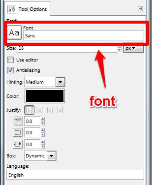 Adjust text example screenshot