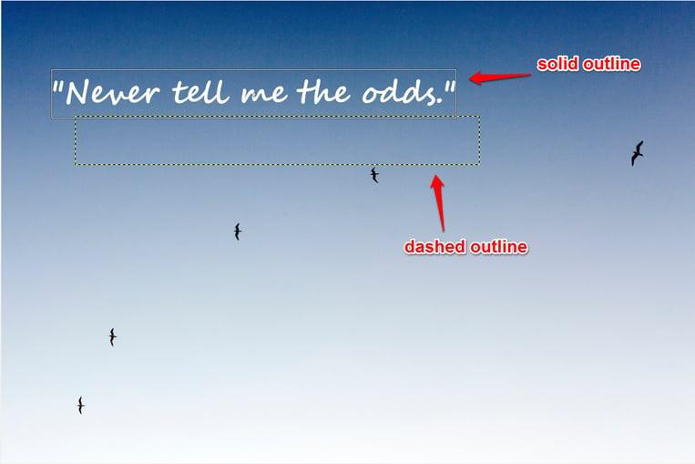 Adjust text font example