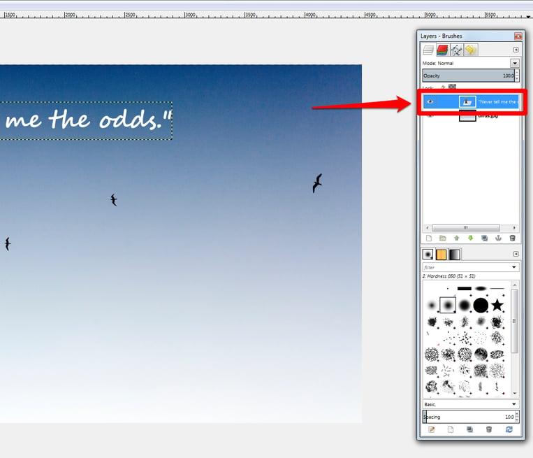 Adjust text font example screenshot