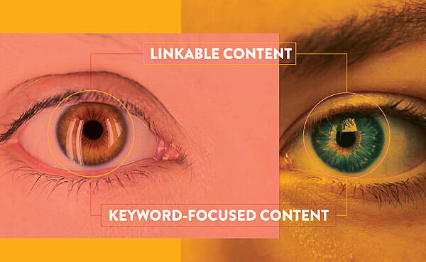 Linkable content and keyword-focused content