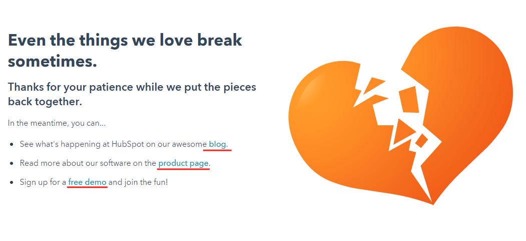 404 page internal links