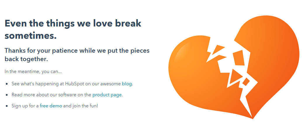 Hubspot 404 page