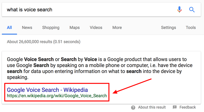 What is voice search