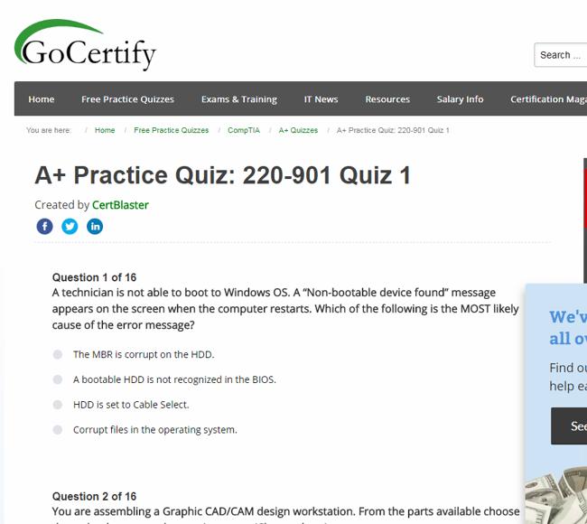 GoCertify screenshot