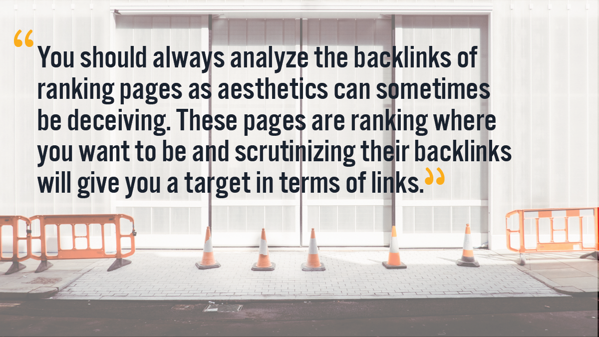 Ranking pages backlinks