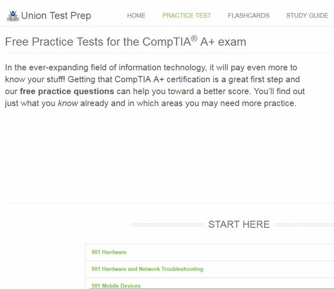 Union Test Prep Screenshot