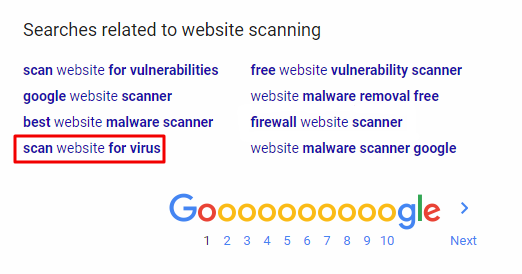Related searches website scanner RIGHT