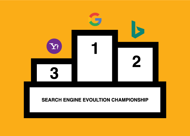 Search engine podiums