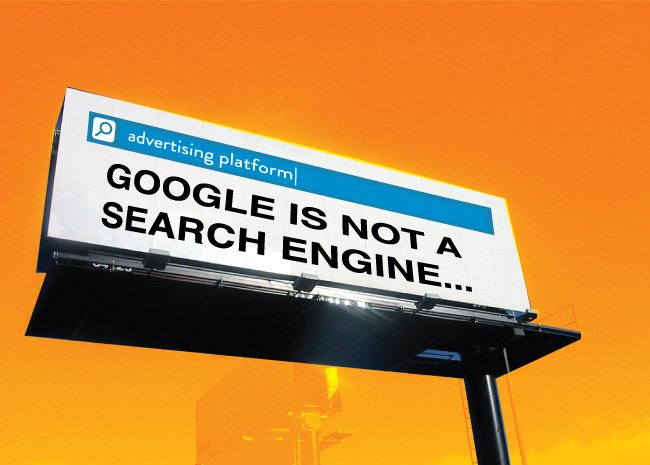 Google is not a search engine