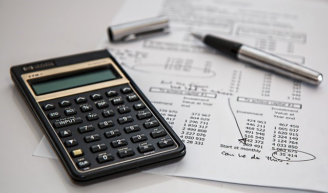 Calculator and receipt image