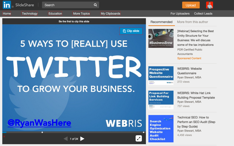 Slide Share screenshot