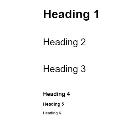 Headings 1-6 Example