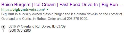 Boise burgers schema tool screenshot