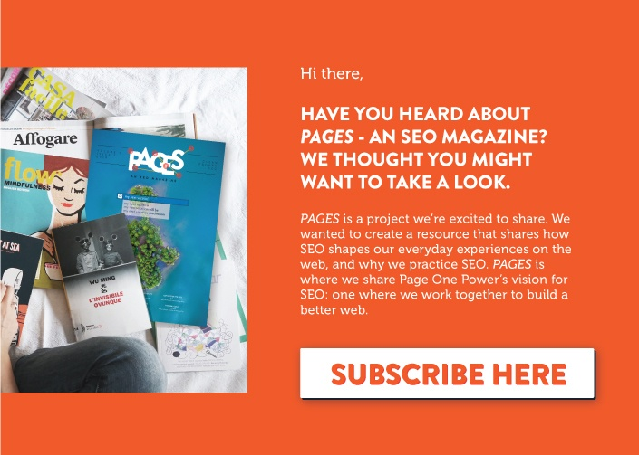 PAGES An SEO Magazine